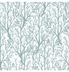 Forest trees texture seamless pattern background vector image