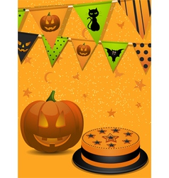 Halloween party background2 vector image