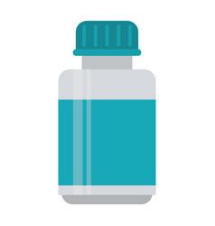 medicine bottle capsule icon vector image