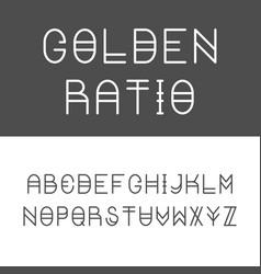 trendy golden ratio thin line font vector image vector image