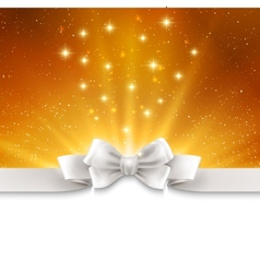 Abstract magic gold light background with white vector image