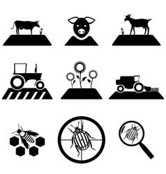 agricultural set vector image