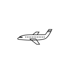 airplane line icon navigation and air transport vector image vector image