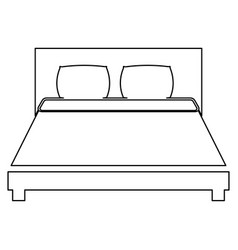 bed the black color icon vector image vector image