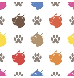 Cat Paw Seamless Animal Pattern vector image vector image