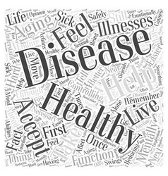 Controlling disease in healthy aging word cloud vector