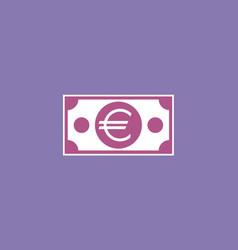 euro paper banknote vector image
