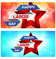 Happy Labor Day greeting card design vector image