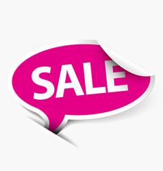 pink sale speech bubble vector image vector image