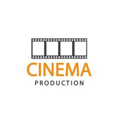 cinema logo emblem template vector image
