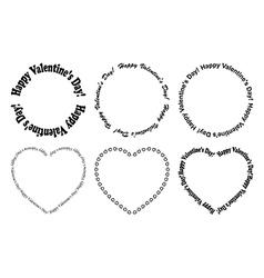decorative frames - happy valentine day vector image vector image