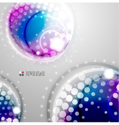 Futuristic colorful circles vector image