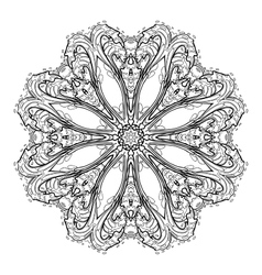 Graphic water circle ornament vector image vector image