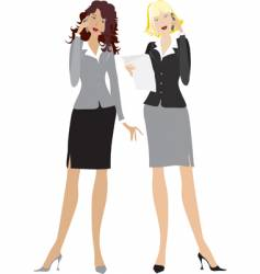 office girls vector image