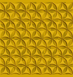 3d yellow seamless abstract geometric pattern vector