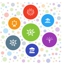 7 merry icons vector