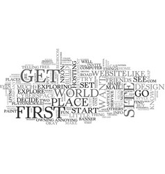a website of your own text word cloud concept vector image