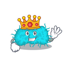 A wise king bacteria prokaryote mascot design vector