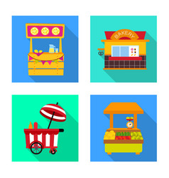 Amusement and store icon vector