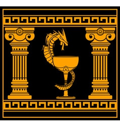 ancient pharmacy symbol vector image