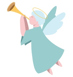 Angel plays the trumpet vector image