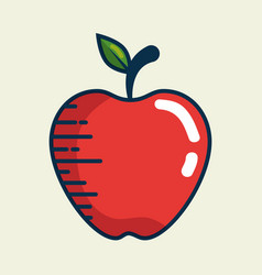 Apple fresh fruit handmade drawn vector