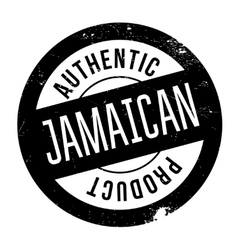 Authentic jamaican product stamp vector image