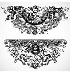 Baroque backgrounds vector