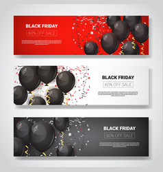 black friday special offer sale posters collection vector image
