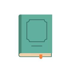 Book design icon flat style vector