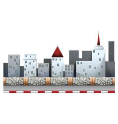 Building city scape scene vector