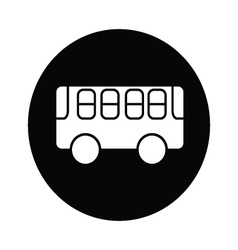Bus symbol icon vector