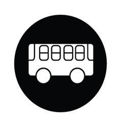 bus symbol icon vector image