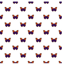 Butterfly brown pattern seamless vector