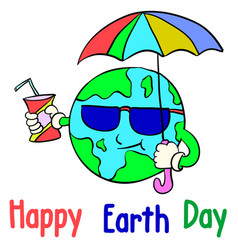 Cartoon earth day style collection vector