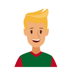 cartoon man character male profile image vector image