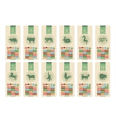 Chinese Zodiac Set vector image