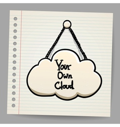 cloud communication in doodle style vector image