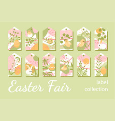collection tags for easter gifts or sales vector image