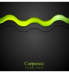 Contrast gradient background with green glow wave vector