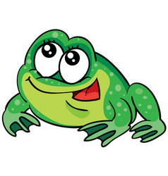 cute frog toy cartoon postcard isolated object vector image