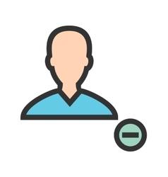 Delete Male Profile vector