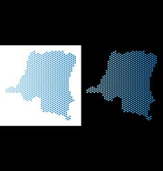 Democratic republic of the congo map hex-tile vector