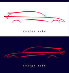 Design sport car silhouette vector