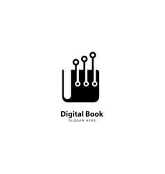 Digital book logo design icon vector