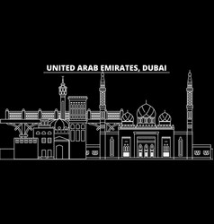 Dubai silhouette skyline united arab emirates vector