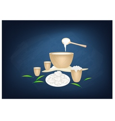 Fermented Camel Milk with Sour Flavor vector image