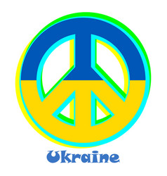 Flag of ukraine as a sign of pacifism vector