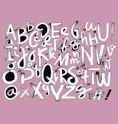 Font pencil vintage hand drawn alphabet drawing vector