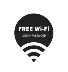 Free wi-fi zone icon public free wifi wlan vector